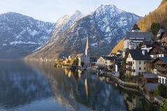 Vista del lago di Hallstatt, Austria Immagine Stock Libera da Diritti