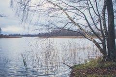 Vista del lago en otoño Foto de archivo