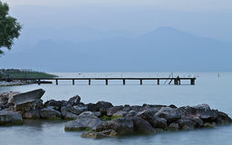 Vista del lago garda Fotografia Stock