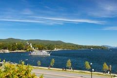 Vista del lago George Immagine Stock