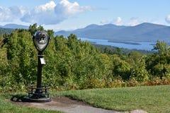 Vista del lago George, dalla montagna di prospettiva, a New York Fotografia Stock Libera da Diritti