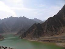 Vista del lago Hatta Fotografia Stock Libera da Diritti