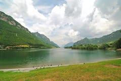 Vista del lago Idro, Italia Immagine Stock