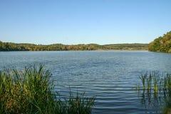 Vista del lago indiano immagini stock