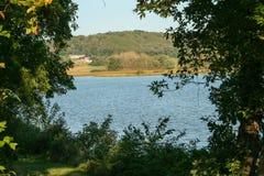 Vista del lago indiano immagine stock