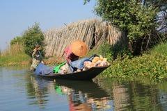 Vista del lago Inle nel Myanmar Fotografia Stock