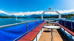 Vista del lago Lucerna Immagine Stock Libera da Diritti