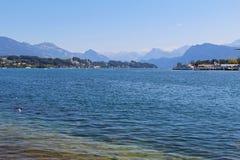 Vista del lago Lucerna, Svizzera Fotografia Stock