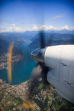 Vista del lago Lugano Fotografía de archivo libre de regalías