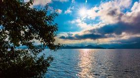 Vista del lago Lugu Fotografia Stock Libera da Diritti