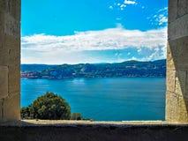 Vista del lago Maggiore Fotografia Stock Libera da Diritti