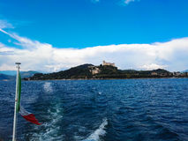 Vista del lago Maggiore Fotografie Stock Libere da Diritti