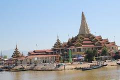 Vista del lago myanmar Inle Fotografie Stock Libere da Diritti
