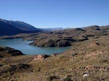 Vista del lago patagonia fotografie stock
