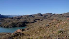 Vista del lago patagonia Fotografia Stock Libera da Diritti
