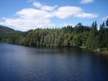 Vista del lago a Pitlochry Fotografia Stock