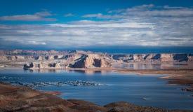 Vista del lago Powell da un'alta posizione di vantaggio Immagine Stock
