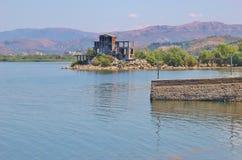 Vista del lago Shkodra, Albania del nord Immagini Stock Libere da Diritti