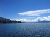 Vista del lago Toba, Sumatra Imágenes de archivo libres de regalías