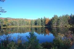 Vista del lago vermont Fotografia Stock Libera da Diritti