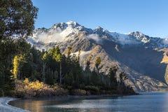 Vista del lago Wakatipu Fotografía de archivo libre de regalías