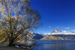 Vista del lago Wakatipu Imagenes de archivo