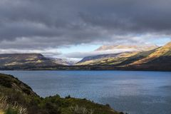 Vista del lago Wakatipu Foto de archivo libre de regalías