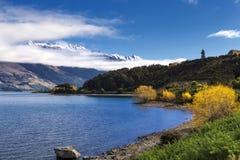 Vista del lago Wakatipu Imágenes de archivo libres de regalías