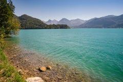 Vista del lago Wolfgangsee, Austria Fotografia Stock