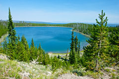 Vista del lago Yellowstone Fotografia Stock