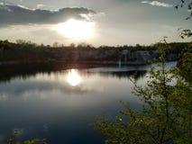 Vista del lago Zakrzowek immagine stock