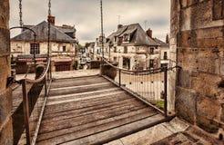 Vista del Langeais dal castello di Langeais Fotografie Stock