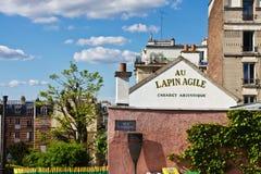 Vista del Lapin agile Fotografia Stock