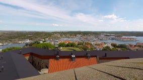 Vista del lapso de tiempo del puerto de Marstrand almacen de metraje de vídeo