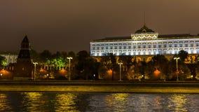 Vista del lasso di tempo del fiume di Mosca archivi video