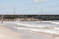 Vista del leba de la costa Fotografía de archivo libre de regalías