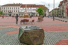 Vista del Libertà-quadrato in Timisoara, Romania Fotografia Stock Libera da Diritti