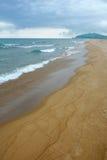 Vista del litorale dell'oceano Immagine Stock Libera da Diritti