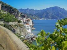 Vista del litorale di Amalfi, Italia fotografia stock libera da diritti