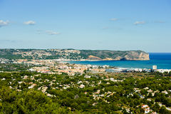Vista del litorale di Javea Fotografia Stock Libera da Diritti