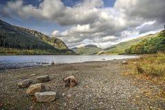 Vista del lubnaig del lago Fotografie Stock Libere da Diritti