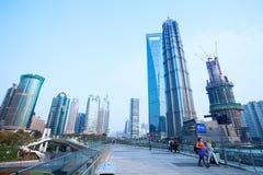 Vista del lujiazhui en Shangai Foto de archivo libre de regalías