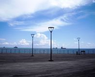 Vista del lungonmare, mar Mediterraneo, Cipro Immagine Stock