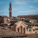 Vista del Manja Tower di Torre e di Siena Fotografie Stock