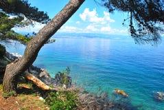Vista del mar adriático Fotos de archivo libres de regalías