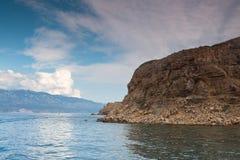 Vista del mar adriático en Croacia Imagen de archivo libre de regalías