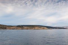 Vista del mar adriático en Croacia Fotografía de archivo libre de regalías