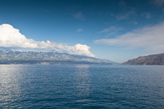 Vista del mar adriático en Croacia Imágenes de archivo libres de regalías