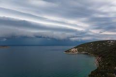 Vista del mar adriático en Croacia Fotos de archivo