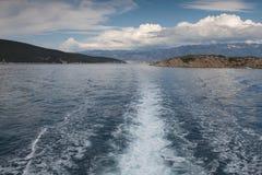 Vista del mar adriático en Croacia Fotos de archivo libres de regalías